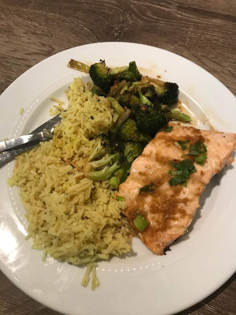 Sheet-pan ginger and sesame salmon with rice and broccoli   The Picky Eater Chronicles